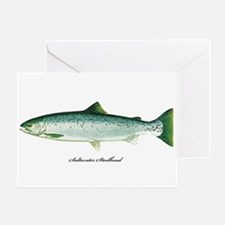 Wild Saltwater Steelhead Fish Greeting Card