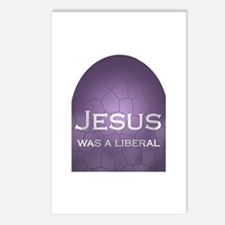 Jesus Was a Liberal Postcards (Package of 8)