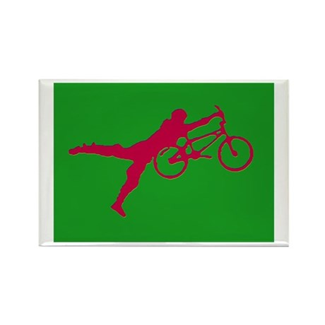GREEN RED BMX Rectangle Magnet (10 pack)