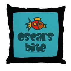 Oscars bite. Throw Pillow