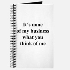None of My Business black txt Journal