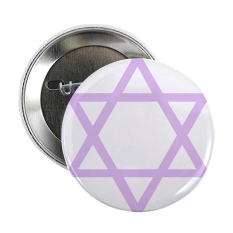 "Lavender Star of David 2.25"" Button (100 pack)"
