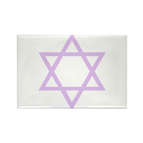 Lavender Star of David Rectangle Magnet