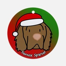 Cartoon Sussex Spaniel Christmas Ornament