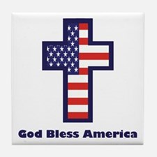 American Cross Tile Coaster