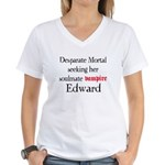 Desperate Mortal seeking for Edward Women's V-Neck