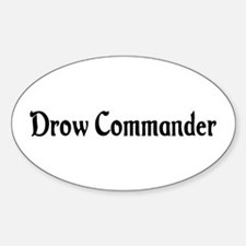 Drow Commander Oval Decal