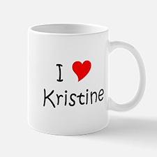 Cute I love kristine Mug