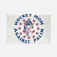 Hockey Mom Against Palin Rectangle Magnet