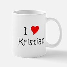 Cute I heart kristian Mug