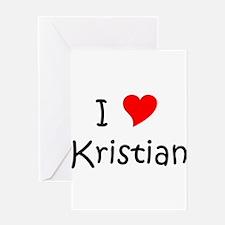 Cute I love kristian Greeting Card