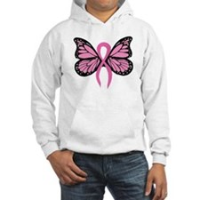 Breast Cancer Butterfly Hoodie