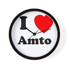 I heart Amto Wall Clock