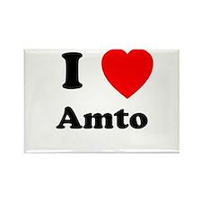I heart Amto Rectangle Magnet