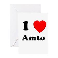 I heart Amto Greeting Card