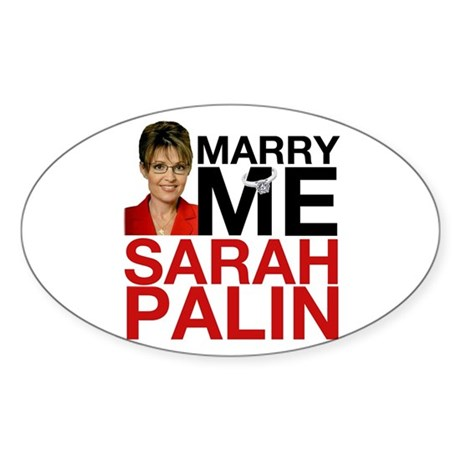 sarah palin Oval Sticker