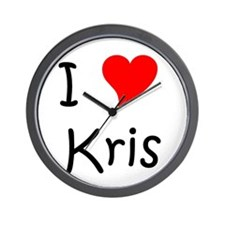Unique I love kris Wall Clock