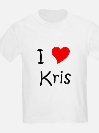 Cute I love kris T-Shirt