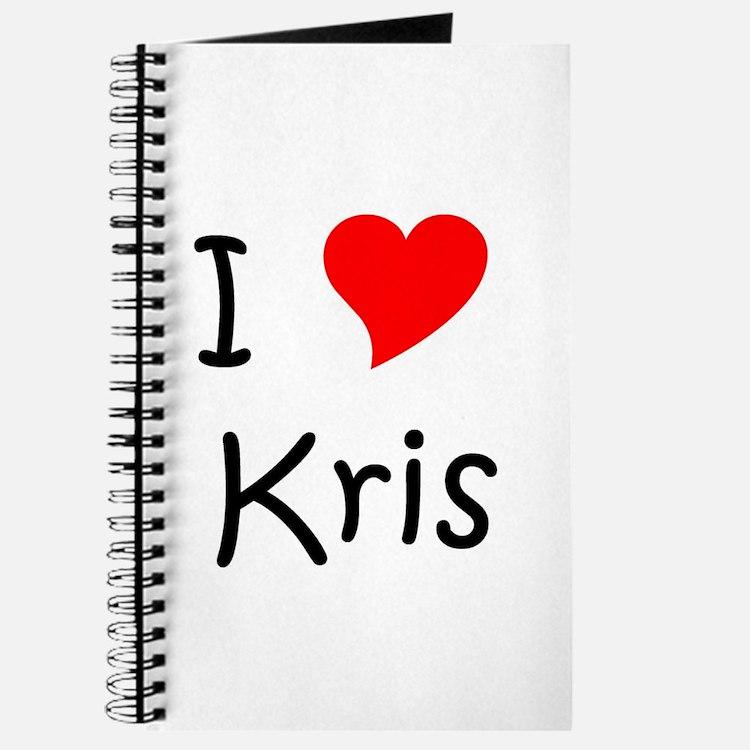 Cute I love kris Journal