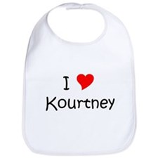Cute I heart kourtney Bib