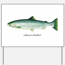 Wild Saltwater Steelhead Fish Yard Sign