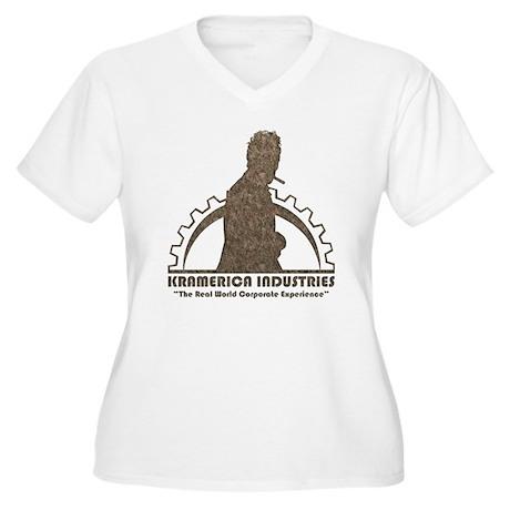 Kramerica Women's Plus Size V-Neck T-Shirt