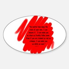I Can Make You Clean Oval Decal