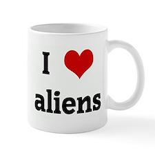 I Love aliens Mug