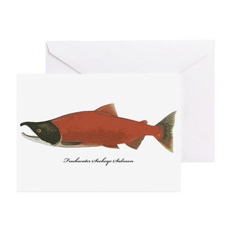 Sockeye Salmon Greeting Cards (Pk of 10)