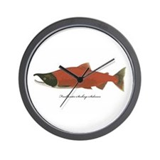 Sockeye Salmon Wall Clock