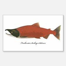 Sockeye Salmon Rectangle Decal