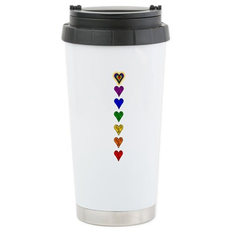 Chakra Heart Line Stainless Steel Travel Mug
