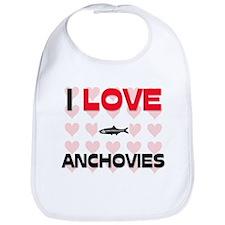 I Love Anchovies Bib