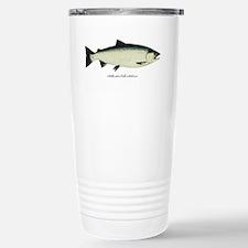 Coho Silver Salmon Stainless Steel Travel Mug
