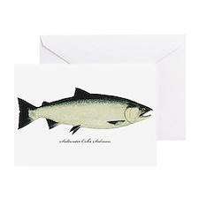 Coho Silver Salmon Greeting Card