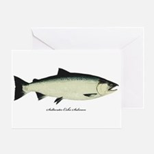 Coho Silver Salmon Greeting Card