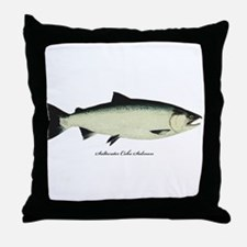 Coho Silver Salmon Throw Pillow