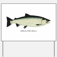 Coho Silver Salmon Yard Sign