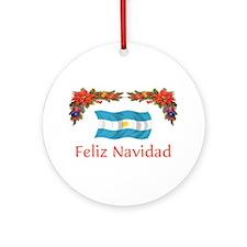 Argentine Feliz Navidad 2 Ornament (Round)