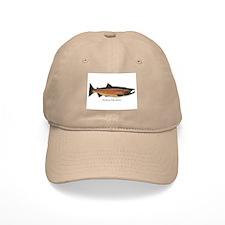 Coho Silver Salmon Baseball Cap