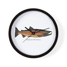 Coho Silver Salmon Wall Clock