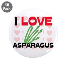 "I Love Asparagus 3.5"" Button (10 pack)"