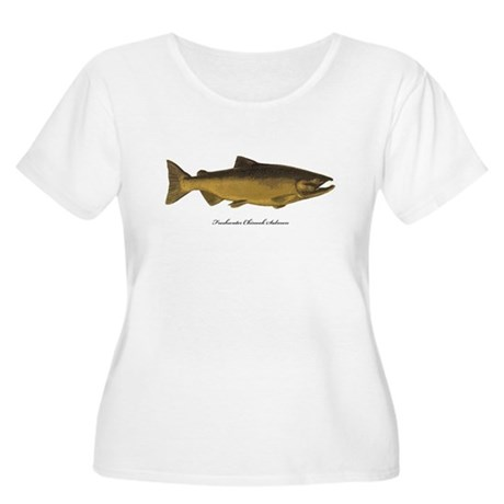 Chinook King Salmon Women's Plus Size Scoop Neck T