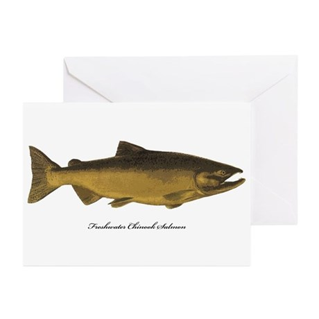 Chinook King Salmon Greeting Cards (Pk of 10)