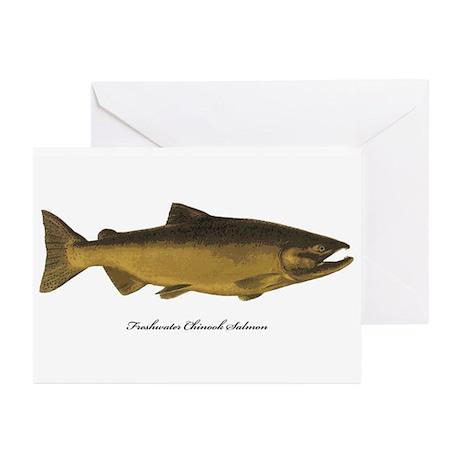 Chinook King Salmon Greeting Cards (Pk of 20)