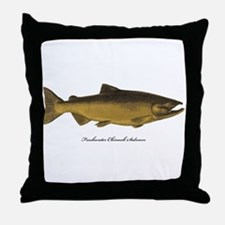 Chinook King Salmon Throw Pillow