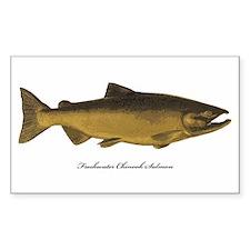 Chinook King Salmon Rectangle Decal