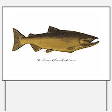 Chinook King Salmon Yard Sign