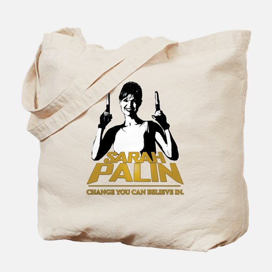PALIN - CHANGE YOU CAN BELIEVE IN Tote Bag
