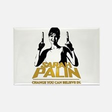 PALIN - CHANGE YOU CAN BELIEVE IN Rectangle Magnet